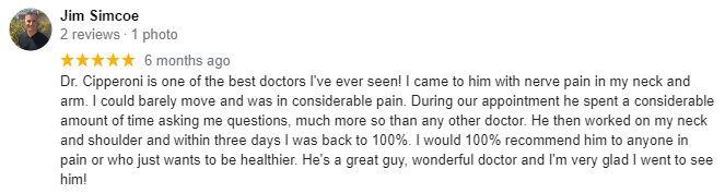 Chiropractic Encinitas CA Jim Testimonial